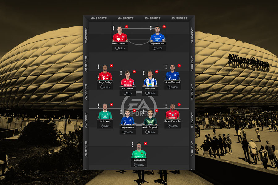 Bundesliga Fantasy team management page